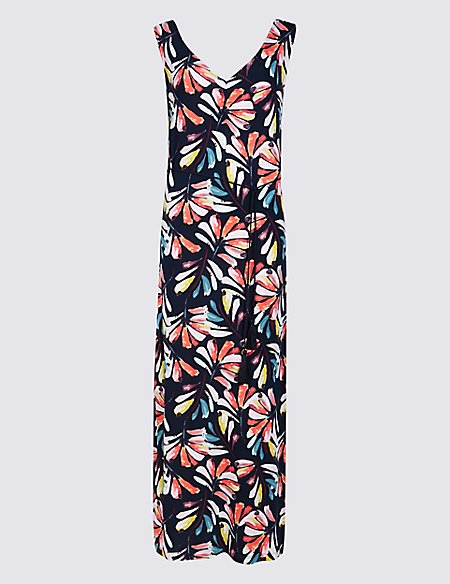 For Nice For Sale Marks & Spencer Leaf Print Maxi Dress - - 6/Regular Discount New Cheap Nicekicks Cheap Sale Low Price Clearance New Arrival yOD4rq2g