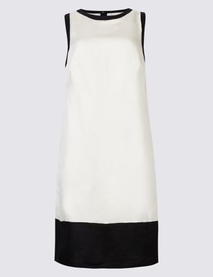 Linen Rich Colour Block Tunic Dress by Marks & Spencer