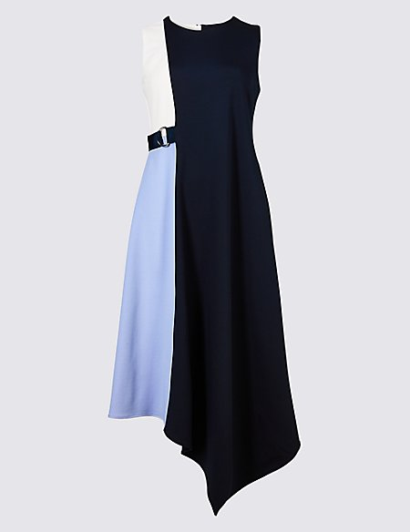 Marks & Spencer Colour Block Wrap Midi Dress - - 6/Regular Cheapest Price Online Cheap Shop Genuine Shipping Outlet Store Online 2018 New Cheap Price z5xW95lzM
