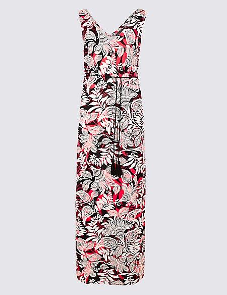 Paisley Print Slip Maxi Dress