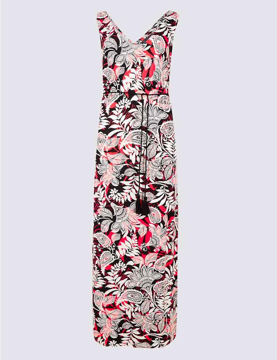 130f47de39c Paisley Print Slip Maxi Dress