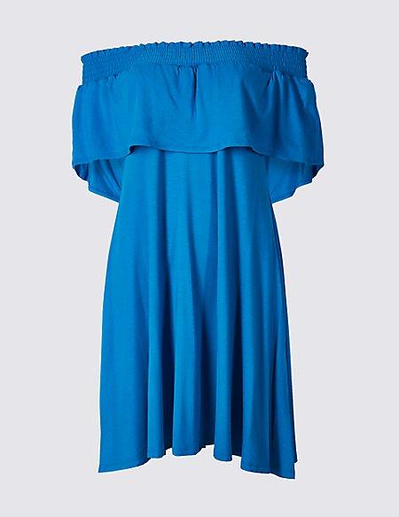 Half Sleeve Bardot Dress