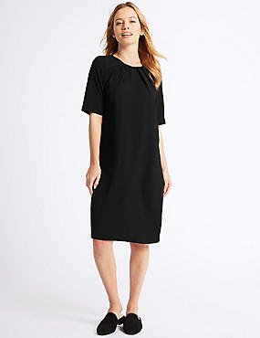 PETITE Short Sleeve Tunic Dress