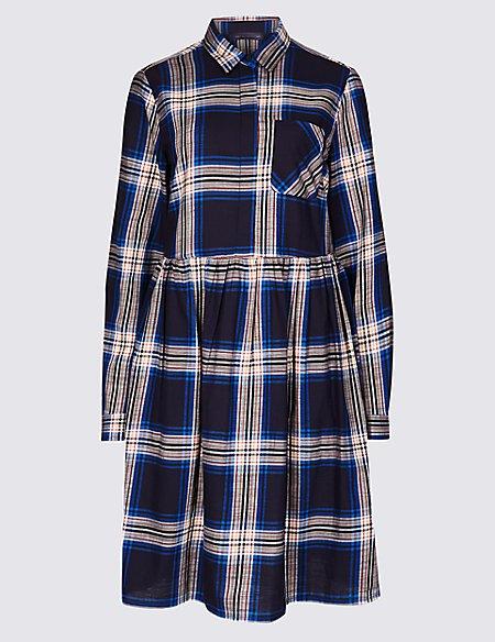 Pure Cotton Fuller Bust Drop Waist Dress