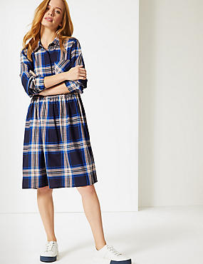PETITE Pure Cotton Checked Dress