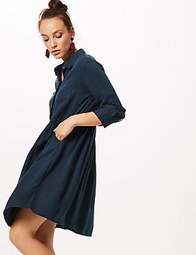 3/4 Sleeve Drop Waist Dress