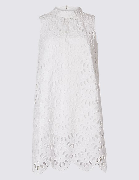 PETITE Pure Cotton Tunic Mini Dress