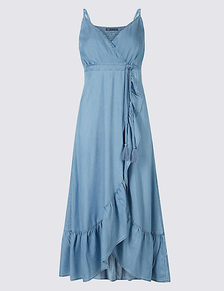 Ruffle Wrap Midi Dress | M&S Collection | M&S