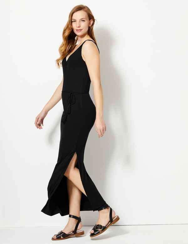 Ruched Front Slip Maxi Dress 8a169e202