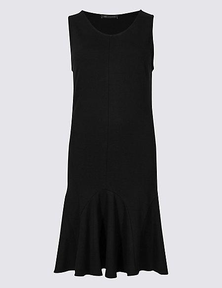 Flippy Ponte Fit & Flare Dress