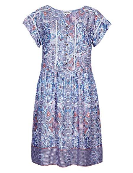 Botanical Floral Tunic Dress