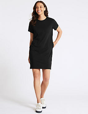 Pure Cotton Jersey T-Shirt Dress