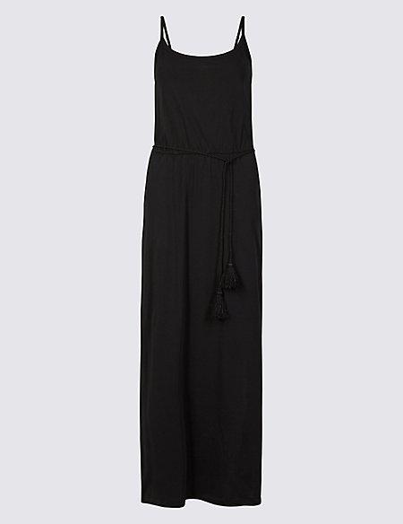 Pure Cotton Jersey Maxi Dress