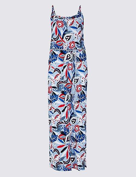 Pure Cotton Floral Print Maxi Dress