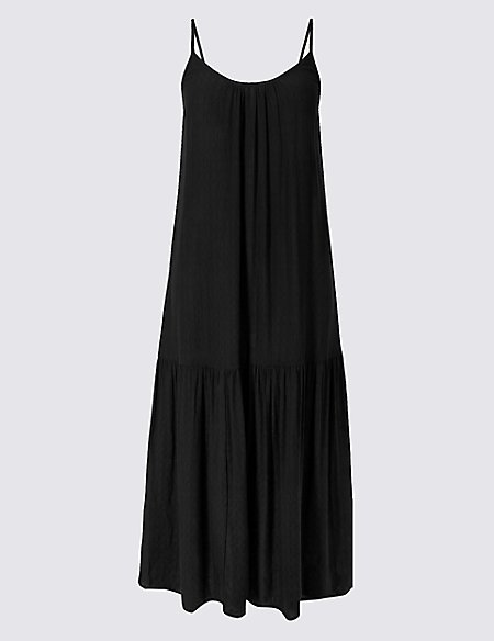 Tiered Slip Midi Dress