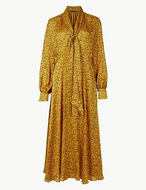Animal Print Fit & Flare Midi Dress