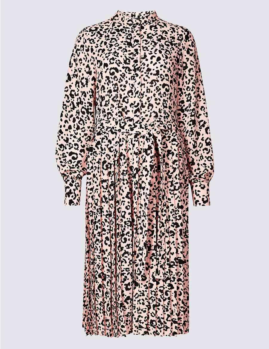 7825a59e4d Animal Print Long Sleeve Shirt Dress