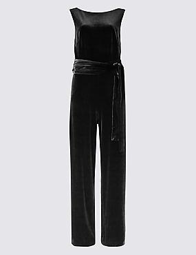 Velvet Maxi Jumpsuit