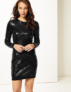 Sparkly Long Sleeve Bodycon Dress