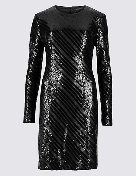 Sparkly Long Sleeve Bodycon Dress