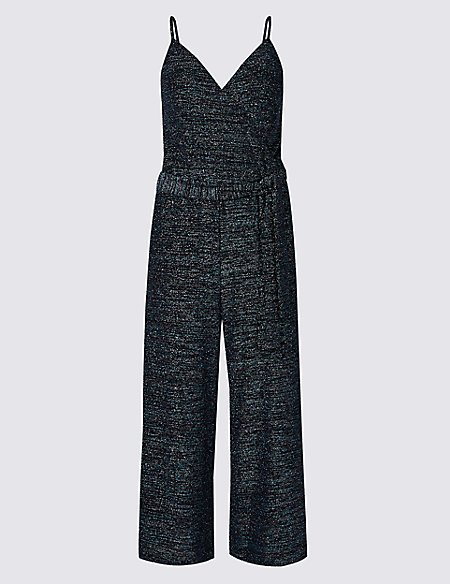 Sparkly Cropped Jumpsuit