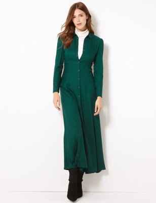 MARKS & SPENCER // MAXI SHIRT DRESS // <BR>£45.OO