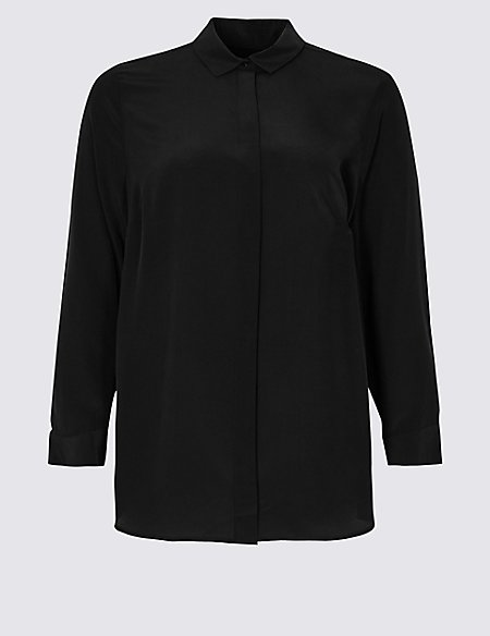 CURVE Pure Silk Long Sleeve Shirt