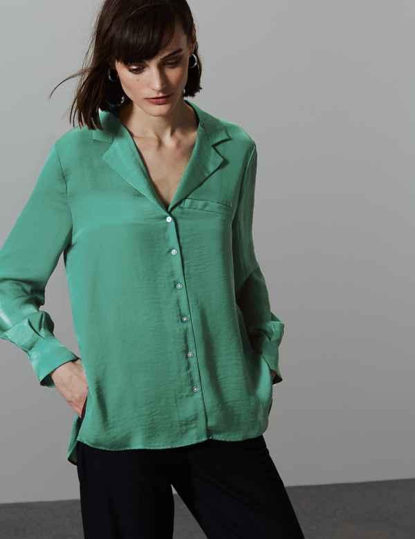 74c44e7eaec5 Ladies Plain   Casual Shirts