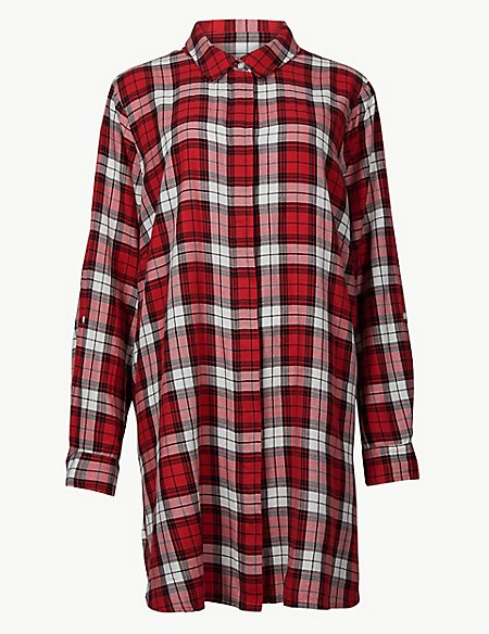 CURVE Checked Long Sleeve Shirt