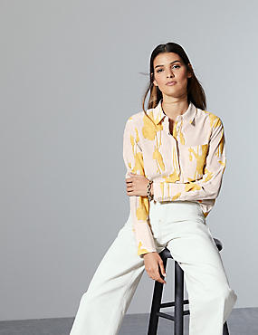 Pure Silk Long Sleeve Shirt