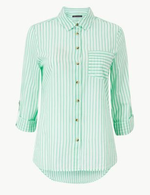 8b4add5ebb791 Pure Cotton Striped Long Sleeve Shirt £19.50
