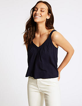 Linen Rich V-Neck Vest Top