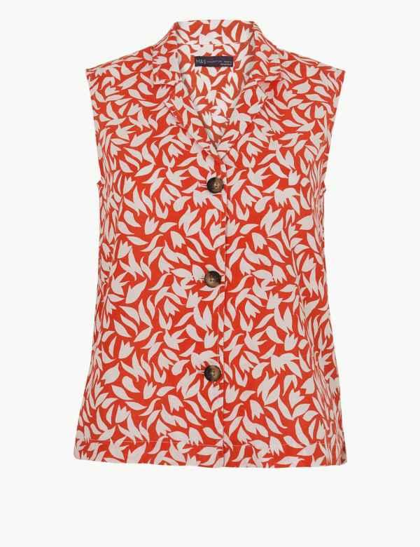 8b50ba36702712 Linen Rich Printed Shirt