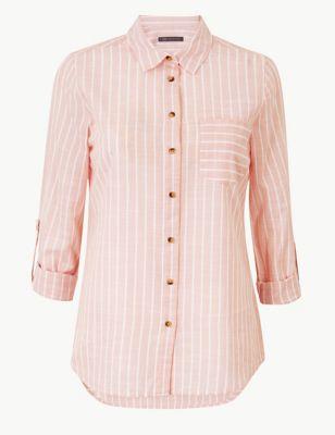 576229f8dbd722 Pure Cotton Striped Long Sleeve Shirt £19.50