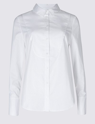 Find Great Cheap Price For Sale Finishline PETITE Pure Cotton Long Sleeve Shirt white Marks and Spencer For Sale Online With Paypal Sale Outlet Store qcqrFLjz3