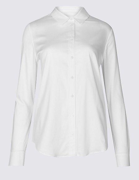 Cotton Rich Stretch Perfect Shirt
