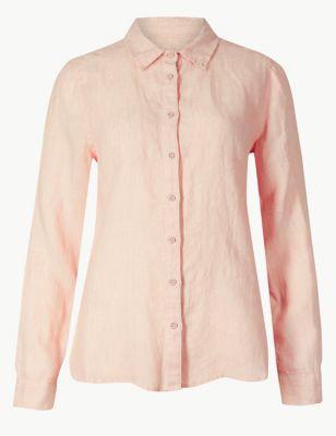 b9e945065259 Pure Linen Button Detailed Shirt £19.50 - £27.50
