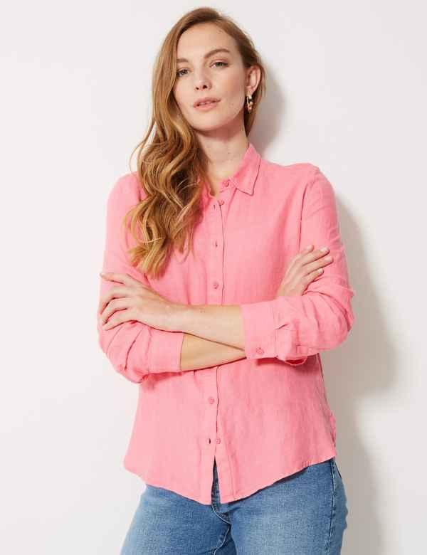 7c9653bf39364b Womens Pink Shirts   Blouses