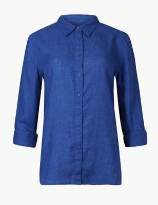 fa841b357a5b Pure Linen Button Detailed Shirt £10.00 - £27.50