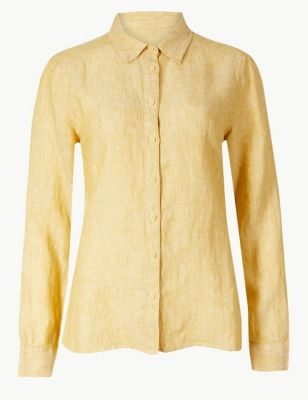 517492a1e4d Pure Linen Long Sleeve Shirt £27.50