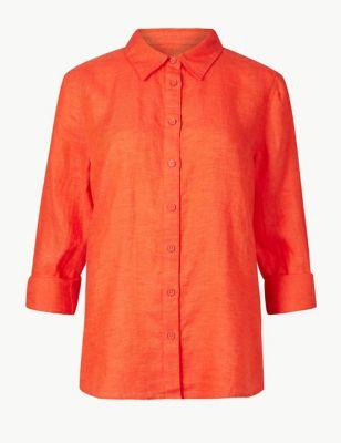 f42c045b7ade0 Pure Linen Long Sleeve Shirt £27.50