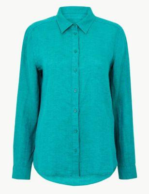 ff59aa23e4d Pure Linen Long Sleeve Shirt £27.50