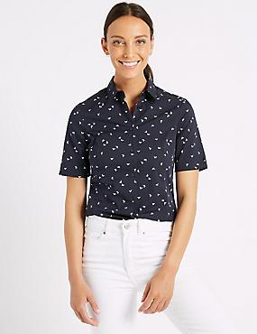 Cotton Rich Printed Short Sleeve Shirt