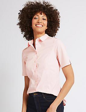 Cotton Rich Short Sleeve Shirt