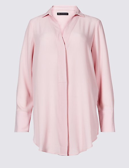Longline Long Sleeve Blouse