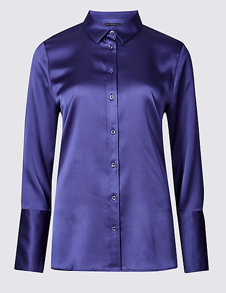 Satin Long Sleeve Shirt