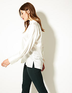 Satin Long Sleeve Shirt