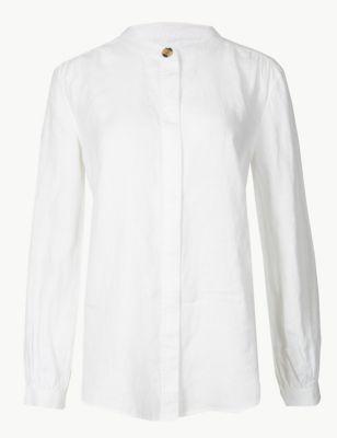 fa923145acdd42 Pure Linen Long Sleeve Shirt £32.50