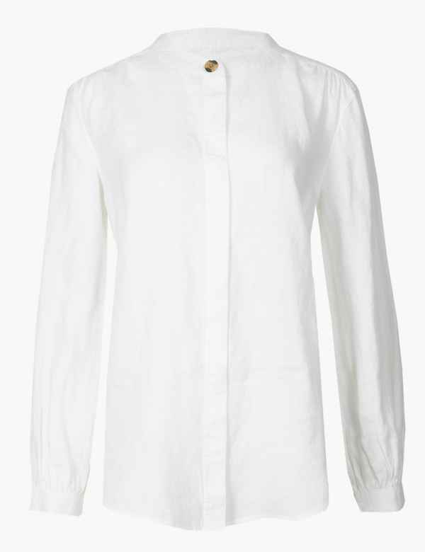 45486607f7af24 Womens White Tops & T-shirts | M&S