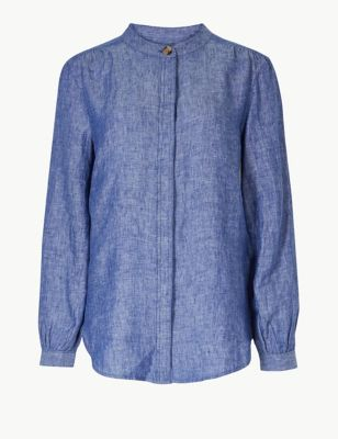 b04bff69101a2 Pure Linen Striped Long Sleeve Shirt £32.50